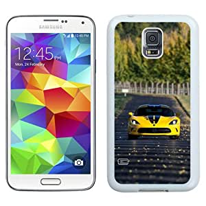 Fashionable Samsung Galaxy S5 I9600 Case ,Unique And Lovely Designed Case With Dodge Srt Viper White Samsung Galaxy S5 Cover Phone Case