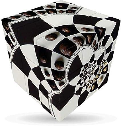 V-Cube Cubo con 3 Ilustraciones de Tablero de ajedrez