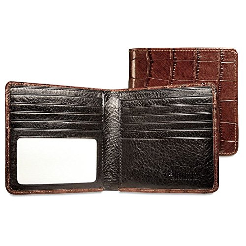 Croco Hipster Mens Wallet - Jack Georges Croco Hipster Wallet (BROWN)