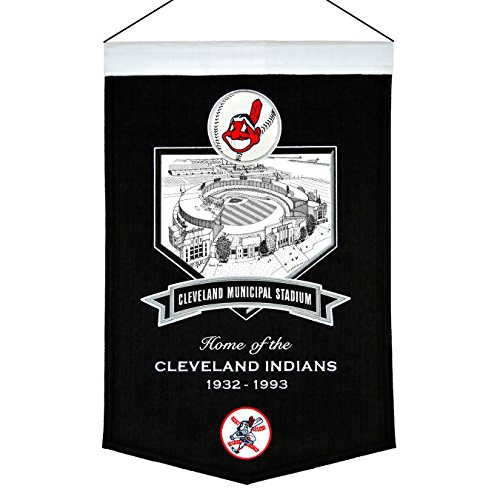MLB Cleveland Indians Cleveland Municipal Stadium Banner Cleveland Indians Mlb Applique