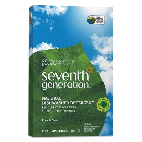 Seventh Generation Free & Clear Automatic Dishwasher Powder, 75oz. Box (8/Carton) - BMC- SEV22151 by Miller Supply Inc