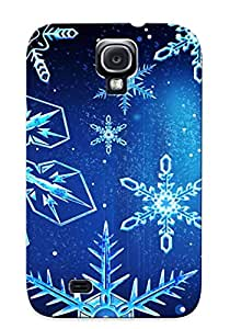 New Fashionable Crapemill WvFLyjU7689DqsZD Cover Case Specially Made For Galaxy S4(blue Snow Postcard )