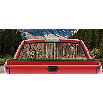 Amazoncom Truck SUV Whitetail Deer Hunting Snow Rear Window - Hunting decals for truckshuntingfishing window decals in white or camouflage at woods