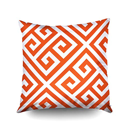 Capsceoll Halloween DIY Greek Key Pattern Custom Decorative Throw Pillow Case 20X20Inch,Home Decoration Pillowcase Zippered Pillow Covers Cushion Cover with Words for Book Lover Worm Sofa Couch for $<!--$9.92-->