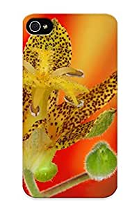 Brand New Defender Case For Iphone 4/4s (flowers Nature Plant Beautiful Green Flower ) / Christmas's Gift