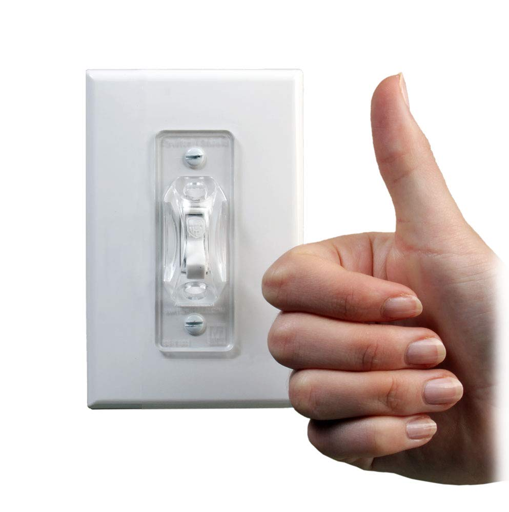 Dual Option Wall Switch Guards (3 Pack) Clear Toggle Style by Switch Shield ON (Image #9)