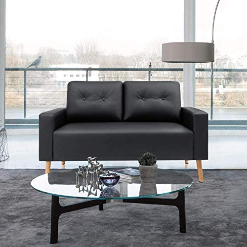 VICTONE Leather Loveseat Modern Fabric Couch