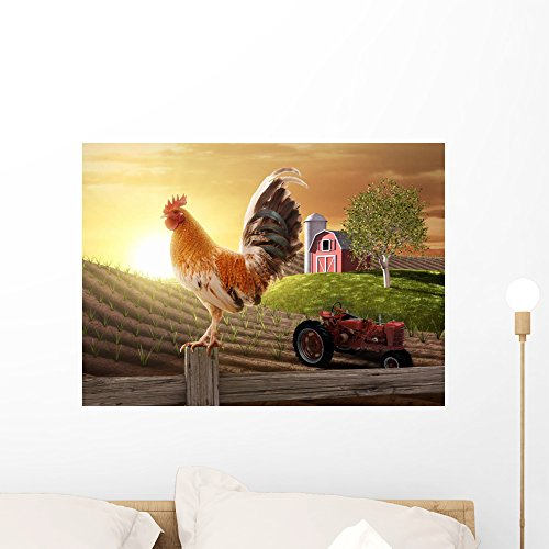 Farm Peel (Country Farm Morning Wall Mural by Wallmonkeys Peel and Stick Graphic (24 in W x 17 in H) WM209873)