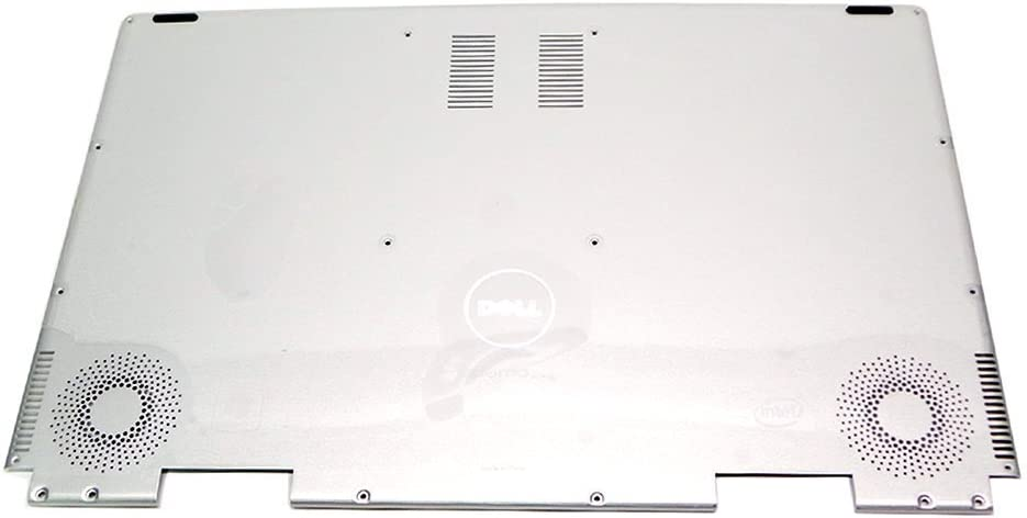 Genuine JCFVR Dell Adamo XPS Laptop Notebook Silver Bottom Plastic Base Outer Shell Casing Case Cover With Speaker and Fan Assembly Compatible Part Numbers: JCFVR, 0JCFVR