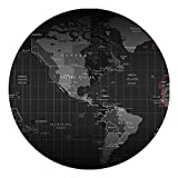 Beyme Map Mouse Pad, Non Slip Rubber Round Mouse Mat for Gaming Typist Office (31x31 Map)