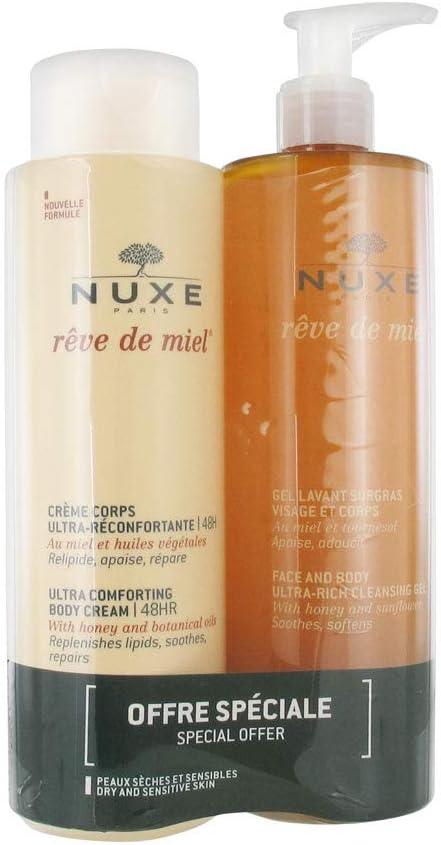 Nuxe Rêve de miel Crema corporal ultra reconfortante 400 ml + gel ...