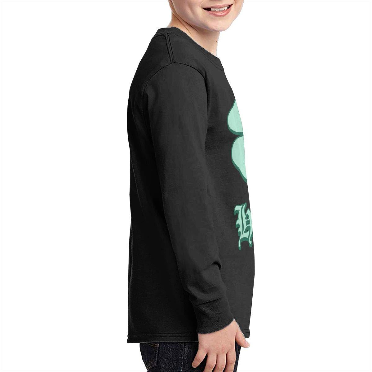 Teenagers Teen Girl Irish Hooligan Shamrock Printed Long Sleeve 100/% Cotton Tops