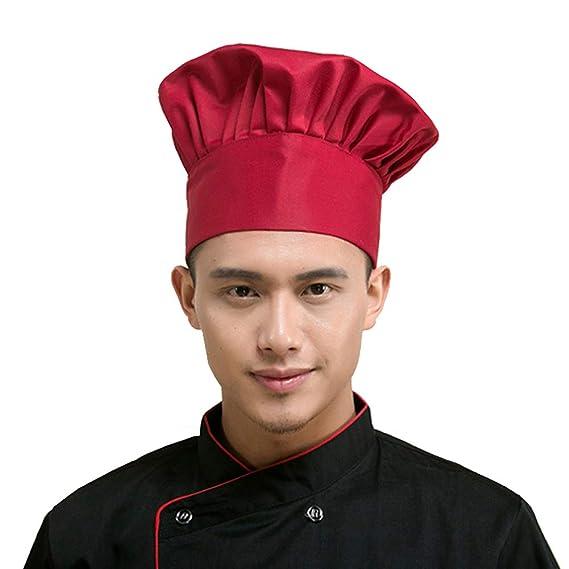 Sombrero de cocinero ajustable elástico para cosplay fiesta de disfraces.