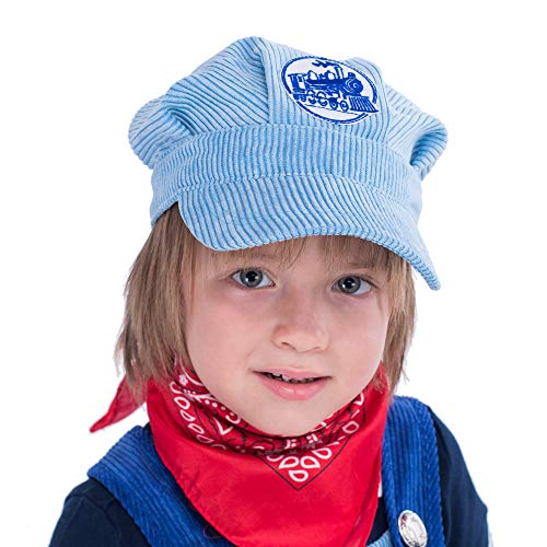 8d6b9e0d0ff Amazon.com  Spooktacular Creations Train Engineer Costume Deluxe Set for  Kids Halloween Party Dress Up
