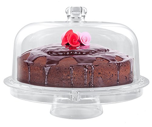 Estilo Multifunctional Cake and Serving Stand, Clear