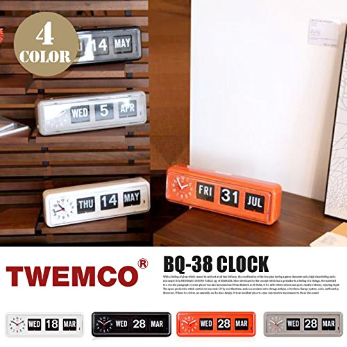 BQ-38 CLOCK(クロック) パタパタクロック TWEMCO(トゥエンコ) ホワイト B00Q9QX754 ホワイト ホワイト