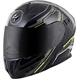 ScorpionExo EXO-GT920 Satellite Full Face Modular Helmet (Black/Neon, X-Large)