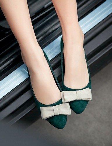 Ballerina de plano cn38 zapatos mujer rojo carrera talón verde de uk5 señaló eu38 PDX Flats 5 Toe oficina 5 y vestido green terciopelo negro us7 casual A4w0FqAd