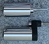 i5 No-Cut Chrome Frame Sliders for Suzuki GSXR1000 GSXR 1000 2001-2002.
