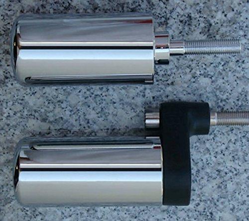 (i5 No-Cut Chrome Frame Sliders for Suzuki GSXR1000 GSXR 1000 2001-2002. )