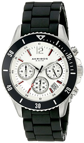 Akribos XXIV Men's AK577WT Essential Diver's Chronograph Stainless Steel Bracelet Watch