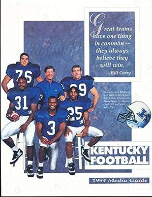 1994 University of Kentucky Football Media Guide bx111