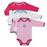 Luvable Friends 3-Pack Long Sleeve Bodysuit, Pink Owl,6-9 Months