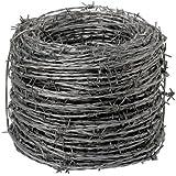 Wolfpack 1130005 Stacheldraht 4/15, verzinkt, Rolle mit 250m