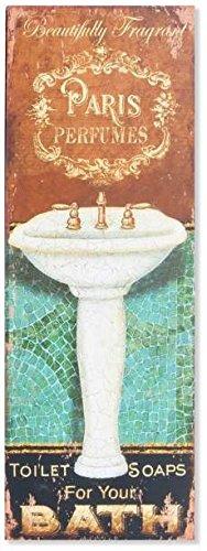 AVENUELAFAYETTE Cadre Tableau Plaque Murale métal Salle de Bain Vintage  rétro - lavabo (Lavabo Ovale)