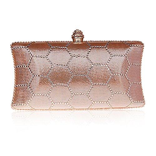 YYW Evening Bag - Cartera de mano para mujer champagne pink