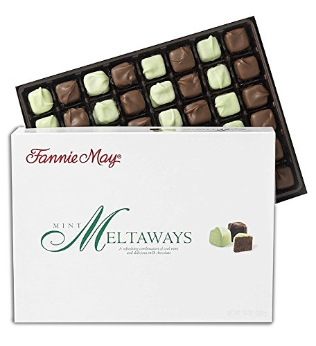 Fannie May Chocolate Candy (Mint Meltaways, 14oz) by Fannie May