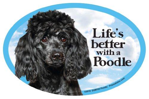 - Prismatix Decal Cat and Dog Magnets, Poodle, Black