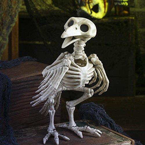 Halloween Prop Bird Crow Skeleton (Bird Head Skeleton)