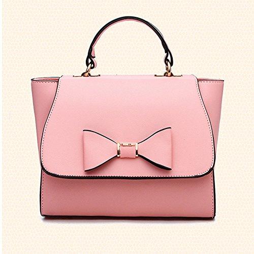 Messenger Woman Bag Shoulder Pure Leather Pink Casual Elegant Handbag Rose Color Bag Totes xfp80frqO