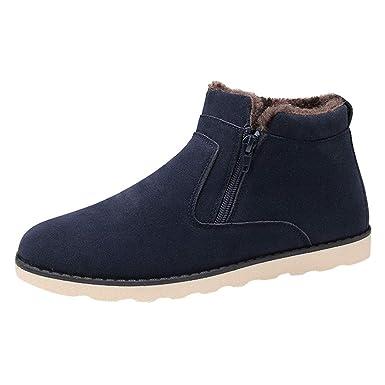 38be77354a7e84 LuckyGirls Chaussures Bottes Hiver De Neige Homme Chaude suède Boots  Fourrées Bottines Courts Mode Doublure Cheville Chaussure: Amazon.fr:  Vêtements et ...