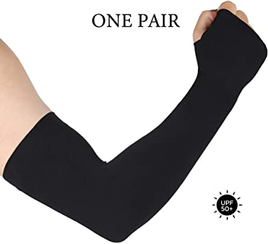 GMIFUN 1 Pair Cooling Arm Long Sleeves UV Protection-UPF 50 Compression Sun Sleeves with Hand Cover for Men /& Women-for Running//Driving//Cycling//Fishing//Golf