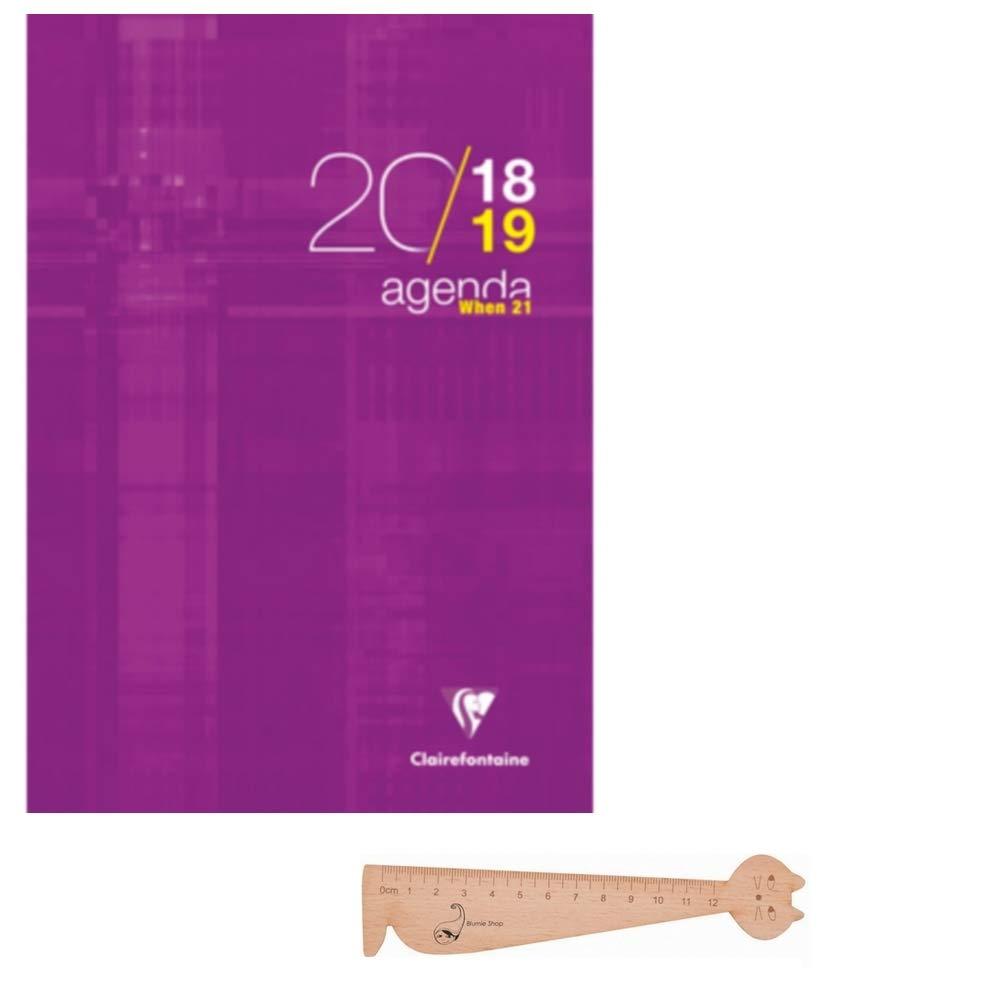 Lot Agenda When 21 Juillet 2018 à Juillet 2019 Violet et 1 Stylo Blumie Shop