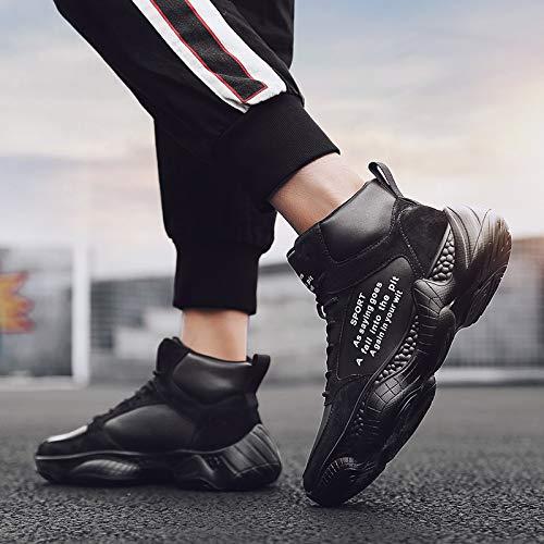 LOVDRAM Stiefel Männer Herbst Mode Hohe Männer Schuhe Mode Wintersport Schuhe Baumwolle Schuhe Herren Wärme Starke Mode Schuhe
