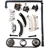 Scitoo Timing Chain Kit Fits 07-13 Buick Chevrolet Cadillac GMC Saab Saturn Suzuki 2.8 3.2 3.6 DOHC 24V