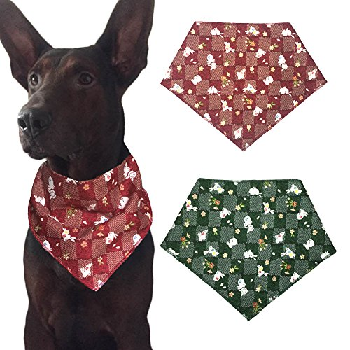Easter Dog Bandanas Triangle Bibs Scarf Accessories for Dogs Pets (Easter Bandana)