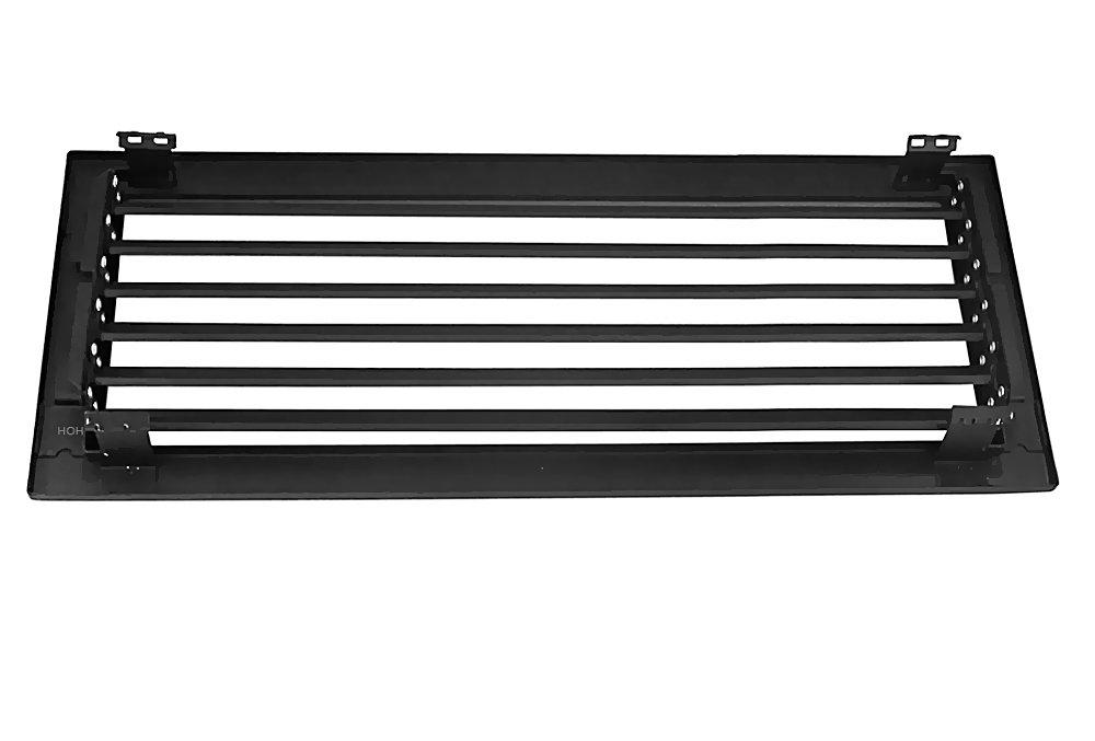 Kaltluftgitter KG 4515 S Schwarz 450 x 150 mm L/üftungsgitter mit Einbaurahmen