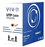 VIVO Red 1,000 ft bulk Cat5e Ethernet Cable/Wire UTP Pull Box 1,000ft Cat-5e Style (CABLE-V001R)