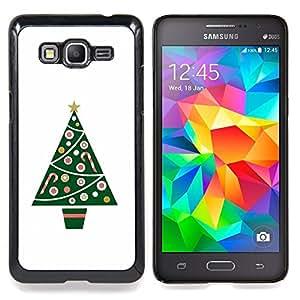 - Tree Minimalist White Winter/ Duro Snap en el tel????fono celular de la cubierta - Cao - For Samsung Galaxy Grand Prime G530H G5308