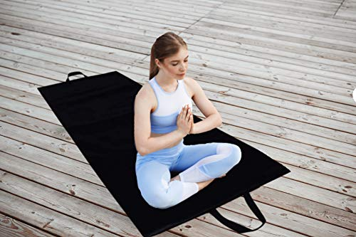 Olivio 10MM PU Leather Yoga Mat, Extra Thick Yoga Mat and Exercise Mat with Carrying Strap – Yoga Mat for Men Women with Strap Price & Reviews
