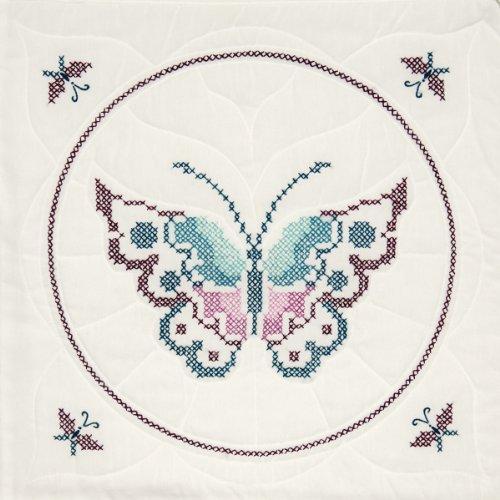 Quilt Block Design (Fairway 95405 Quilt Blocks, Butterfly Design, 18 by 18-Inch, White)