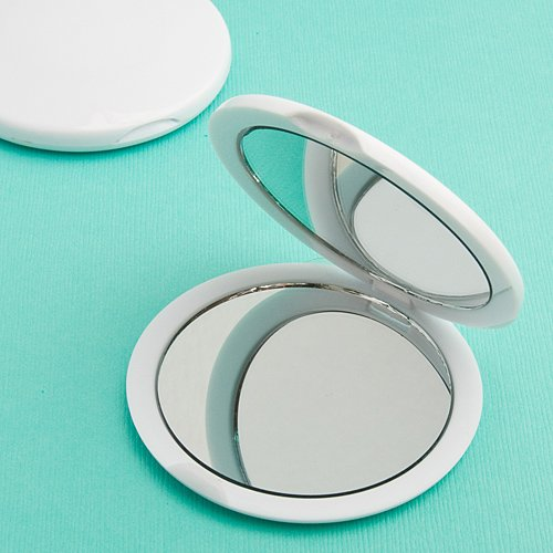 176 Perfectly Plain Collection Mirror Compact Favors by Fashioncraft