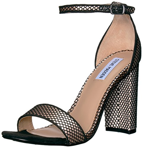 Steve Madden Women Carrson Dress Sandal Black Mesh