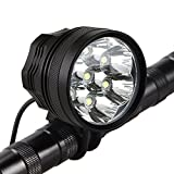 Best Bicycle Lights 5000 Lumens Rechargeables - Weihao Bicycle Headlight, 10500 Lumens 7 LED Bike Review