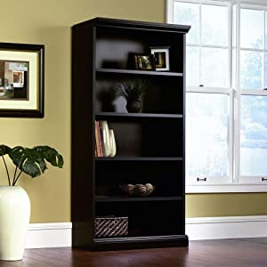 Amazon Com Sauder Library Bookcase Estate Black Finish