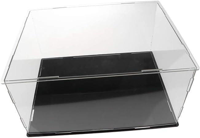 FLAMEER - Vitrina de acrílico Transparente, Expositor, Expositor, Caja para Figuras de Anime, Modelo de Coche, Figura de Peluche, colección, etc.: Amazon.es: Hogar